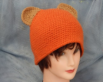 Sale! 10 dollars Star Wars: Ewok Inspired Crochet Hat (ask for other sizes)