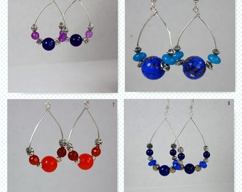 Gemstone Dangled Earrings