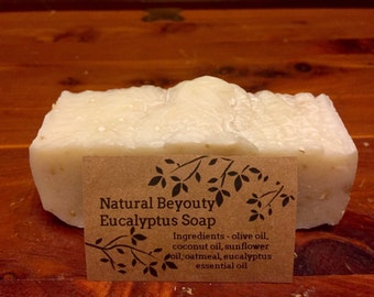 Eucalyptus Soap, Natural decongestant properties, Antibacterial, Homemade, All-natural, Cold process soap