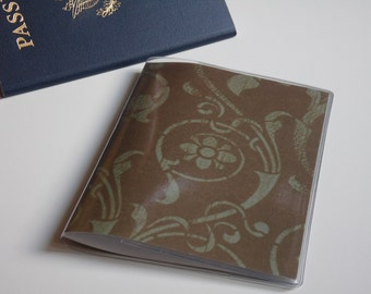 US Passport Case Passport Cover, Flowers and Damask, Passport  Sleeve, Case, Holder