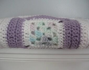 Crocheted Baby Girl Afghan