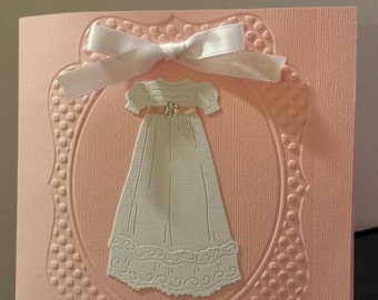 Christening/Baptism Invitation with gown