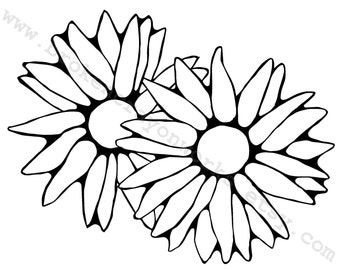 Digital Stamp (Daisies)