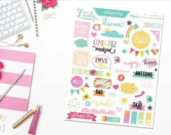 NEW! Oh Happy Day! - Planner Stickers - S011
