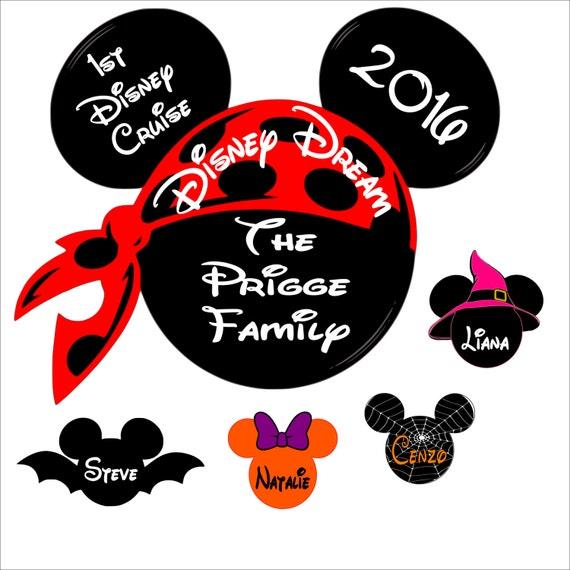Decorating Ideas > Custom Halloween Disney Cruise Magnet Personalized Door ~ 015650_Halloween Door Magnets