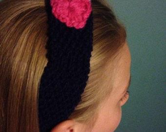 Girls knitted headband