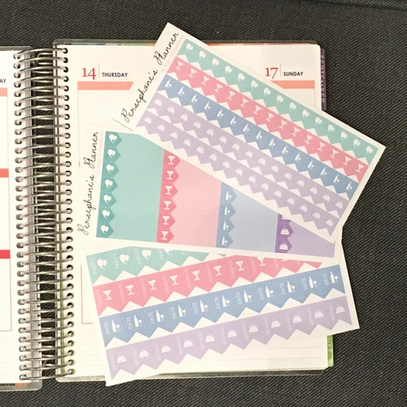 147 Celebration Stickers for your Planner, Journal, Diary, birthday, celebrate, diary, party