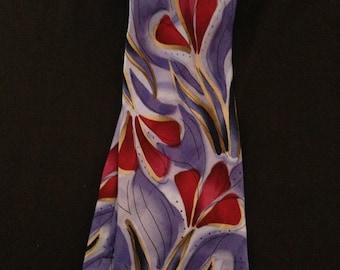 Men's Silk Tie by J. Garcia. Snail Garden Collection!