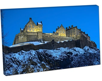 60152 Print On Canvas Edinburgh Castle Scotland