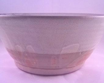 Large White and Celadon Ceramic Bowl