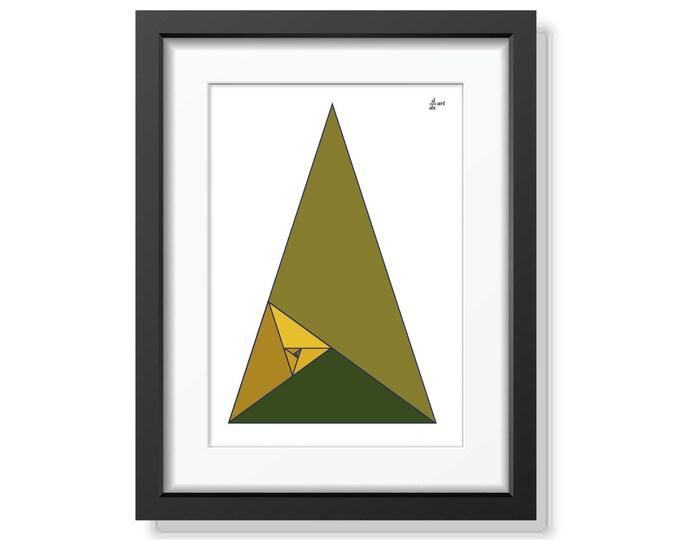 Fibonacci triangles 08 [mathematical abstract art print, unframed] A4/A3 sizes
