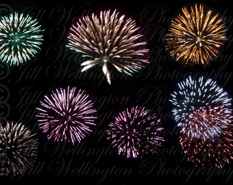 DIGITAL Fireworks Collection Overlay for Fourth of July, weddings, celebrations, photos, photography, photographs
