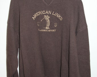 SALE 25% OFF Vintage American Links Golfing Sweater