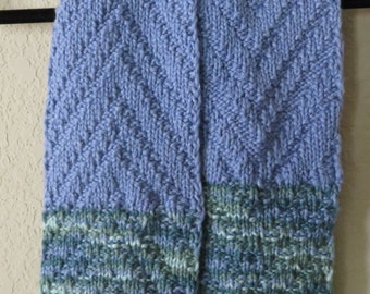 100% Organic Cotton Handknit Child's Scarf
