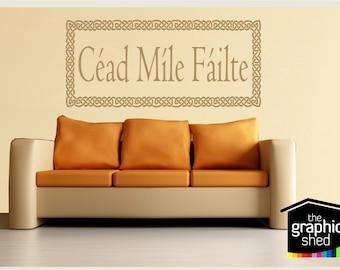 Cead Mile Failte Irish welcome sticker