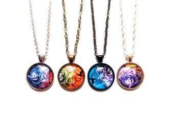 Handmade Illustrated Pendant Necklace