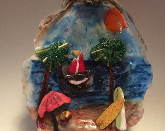 Oryster Shell seascape art