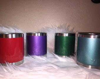 Glitter dipped yeti cup