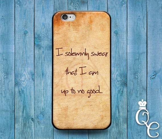 iPhone 4 4s 5 5s 5c SE 6 6s 7 plus iPod Touch 4th 5th 6th Gen Cool Brown Solemnly Swear Quote Phone Cover Hipster Funny Fun Girl Boy Case