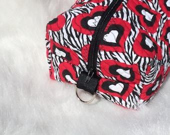 Hearts Zippered Bag