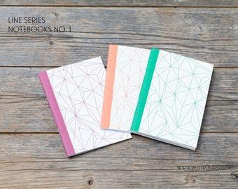 Set of 3 Pocket Notebooks: Line Series No.1