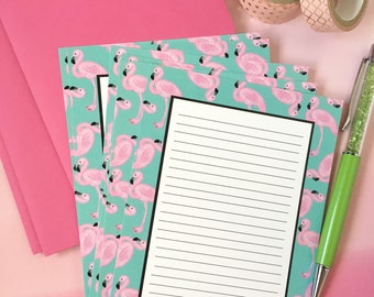 Flamingo stationery set