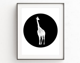 Nursery Wall Giraffe | Baby Shower Gifts | Safari Nursery Art | Nursery Safari Decor