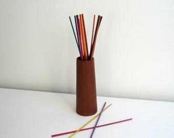Wood vase, vase, teak, danish modern, 60s/70s