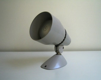 Imperial wall spot, Wall lamp, Wall lamp, gray, metal, 60s, vintage