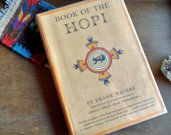RARE Book of the Hopi by Frank Waters (1963) First Edition Signed by Author and Illustrator