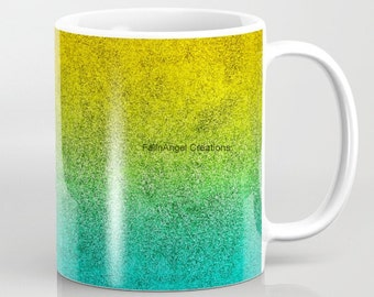 Ocean Sunrise Glitter Gradient Mug, 4 Types Available! Original Art