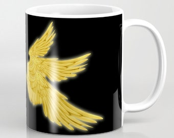 Golden Archangel Wings Mug, 4 Types Available! - Supernatural, Gabriel