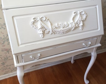 CUSTOM Queen Ann Secretary Desk,Desk,Painted Furniture,Distressed Furniture