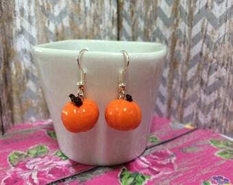 Pumpkin Earrings - Fall Season