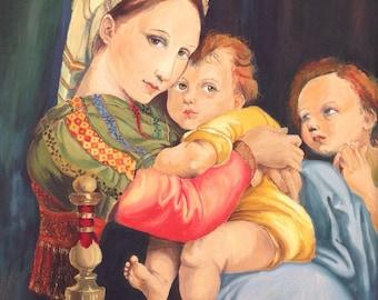 Madonna della Sedia Reproduction of Raphael