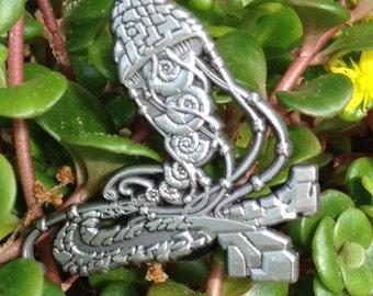 Sacred jelly nautilus pin