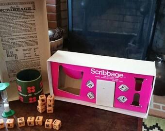 Vintage 1968 Scribbage Board Game/Game Room Decor/Media Room Decor