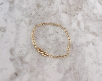 Infiniti Ring - Delicate 18K Gold Filled Chain Ring