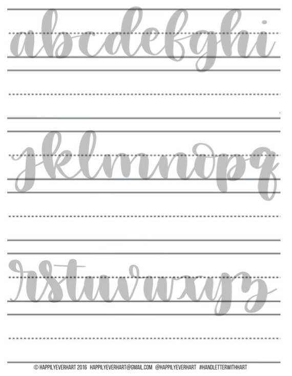 Ambitious image within printable hand lettering practice sheets