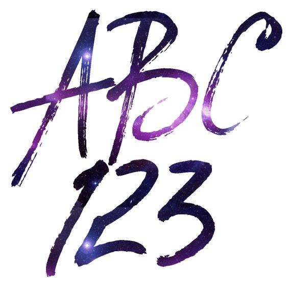Galaxy Alphabet Galaxy Alphabet Clipart Galaxy Letters