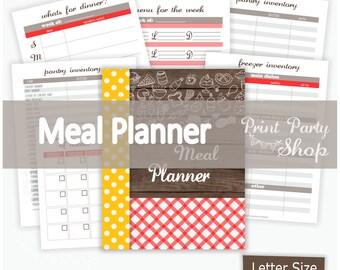 Meal Planner Printable / Planner Printable / PDF FILE