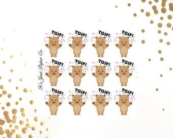 Little Bear - Celebration/ TGIF Stickers (Planner Stickers)