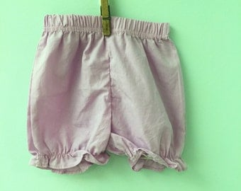 24 month, Classic Baby Bloomers, Pink/Lavender Solid with Ruffled Hem