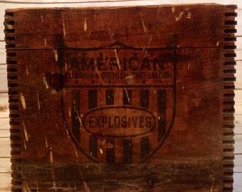 Vintage Wood Explosives Crate