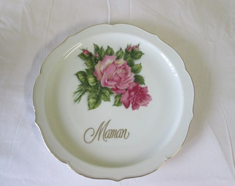 Vintage plate decorative MOM / Vintage Decorative plate Mom