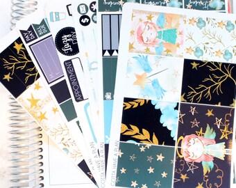 Planner Stickers Christmas Angels Weekly Kit for Erin Condren, Happy Planner, Filofax, Scrapbooking