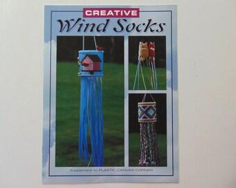 Creative Wind Socks Craft Leaflet Leisure Arts Plastic Canvas