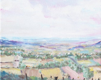 Down Valley, original oil painting print