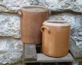 Large stoneware (gres) pots