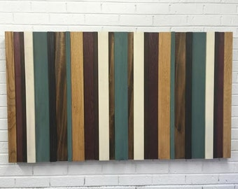 Modern Wood Wall Art- Home Decor- Wood Wall Art- Lines Contemporary Wall Art - Stripes